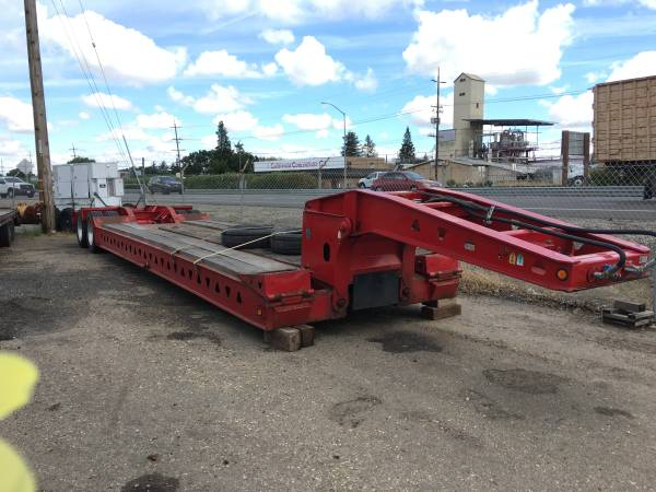 Trail King 8 Tire Low Bed Low Boy Equipment Trailer (woodbridge) $35500