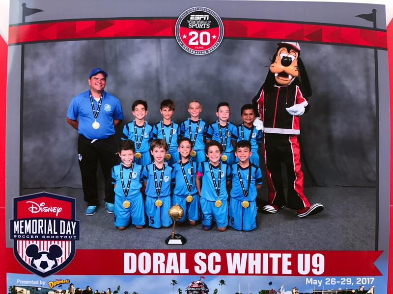 Doral U9 White Champion Disney Memorial Day