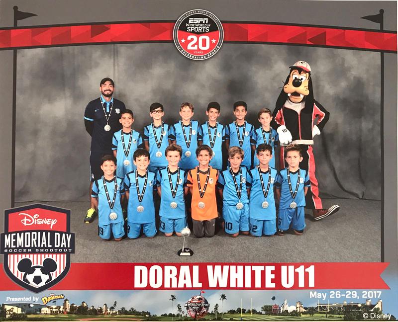 U11 White Finalist Disney Memorial Day 2017