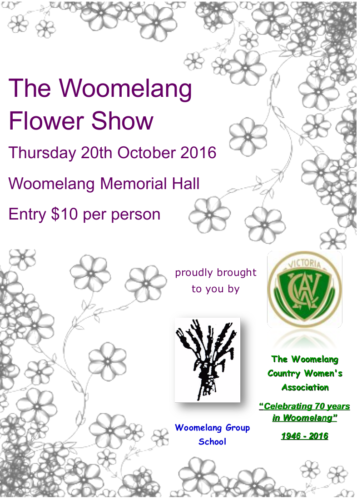 Flower Show day! Thursday 20th October 2016