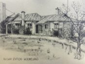 Sketch of the Woomelang Railway Station - an important part of Woomelang's history.