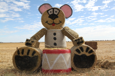 The Festive Teddy. What's he smiling about? Will he keep the entire district awake for a Whole Year?