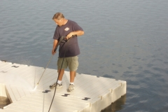 annual dock service - powerwash keeps your docks looking like new!