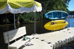 dock accessories - Free standing Kayak Rack
