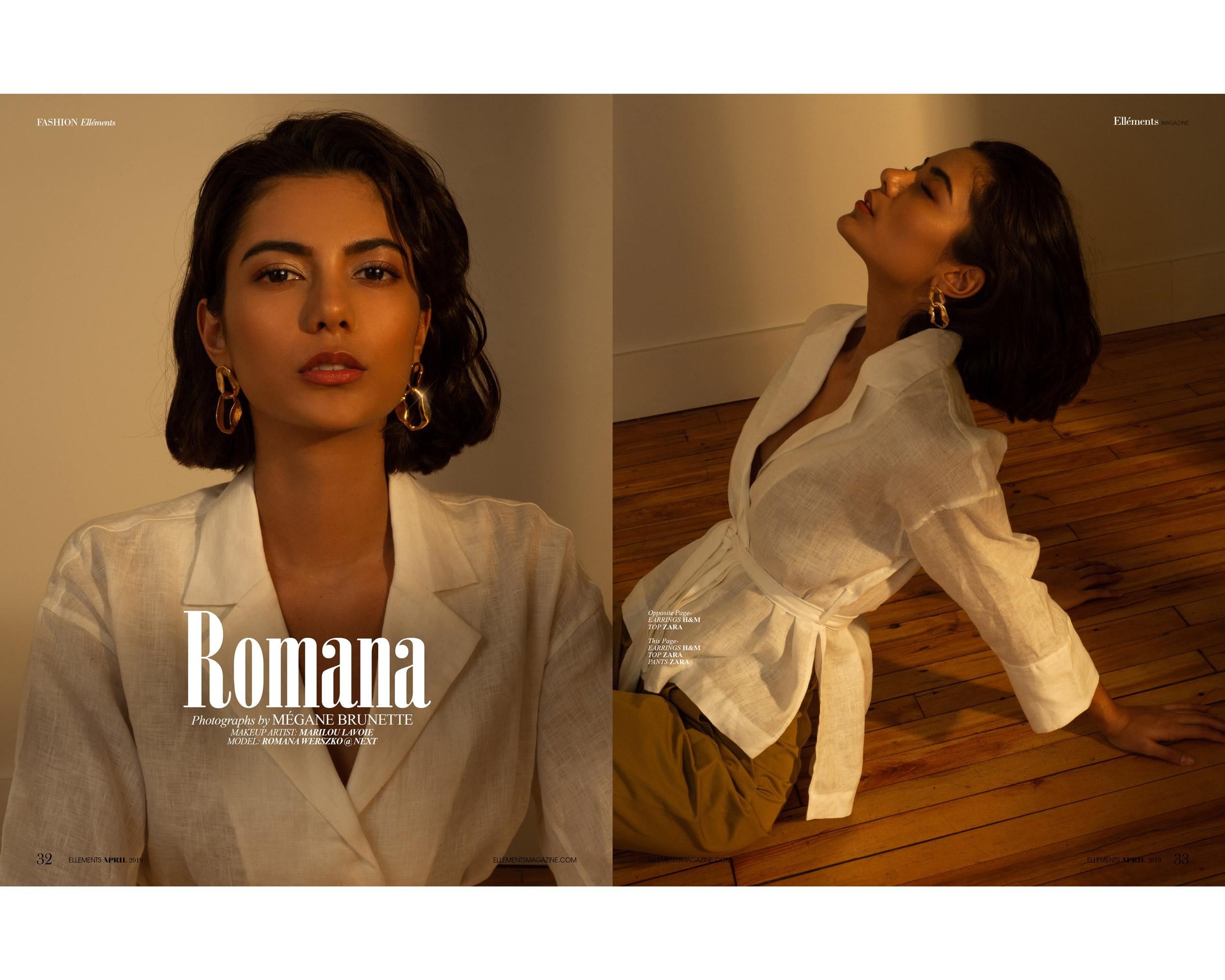 romana, next models, Marilou Lavoie, Mégane Brunette, magazine, ellement, fashion