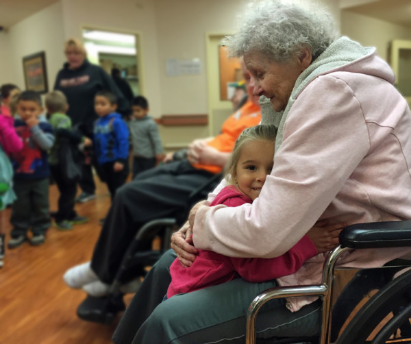 """Youngsters bring smiles to """"Grandpas and Grandmas"""" Columbia Basin Care partners with Head Start"""