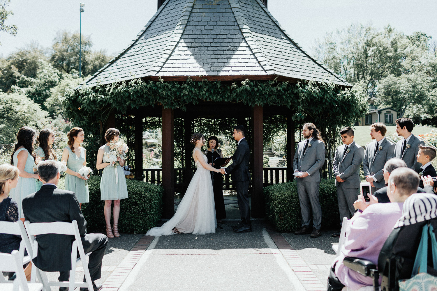 Image of the start of wedding ceremony