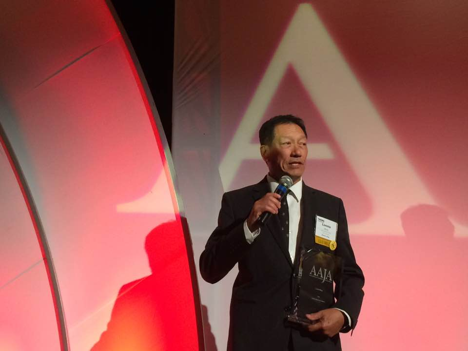 Lonnie Wong receives AAJA Lifetime Achievement Award