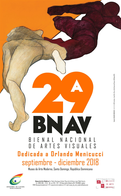 afiche  bienal nacional artes visuales