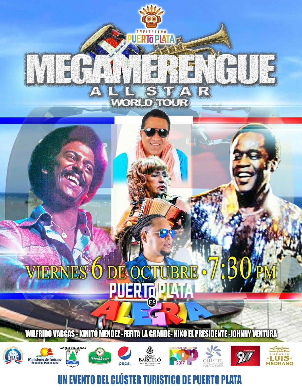 Merengueros celebraran 100 años del merengue con el Megamerengue Word Tours