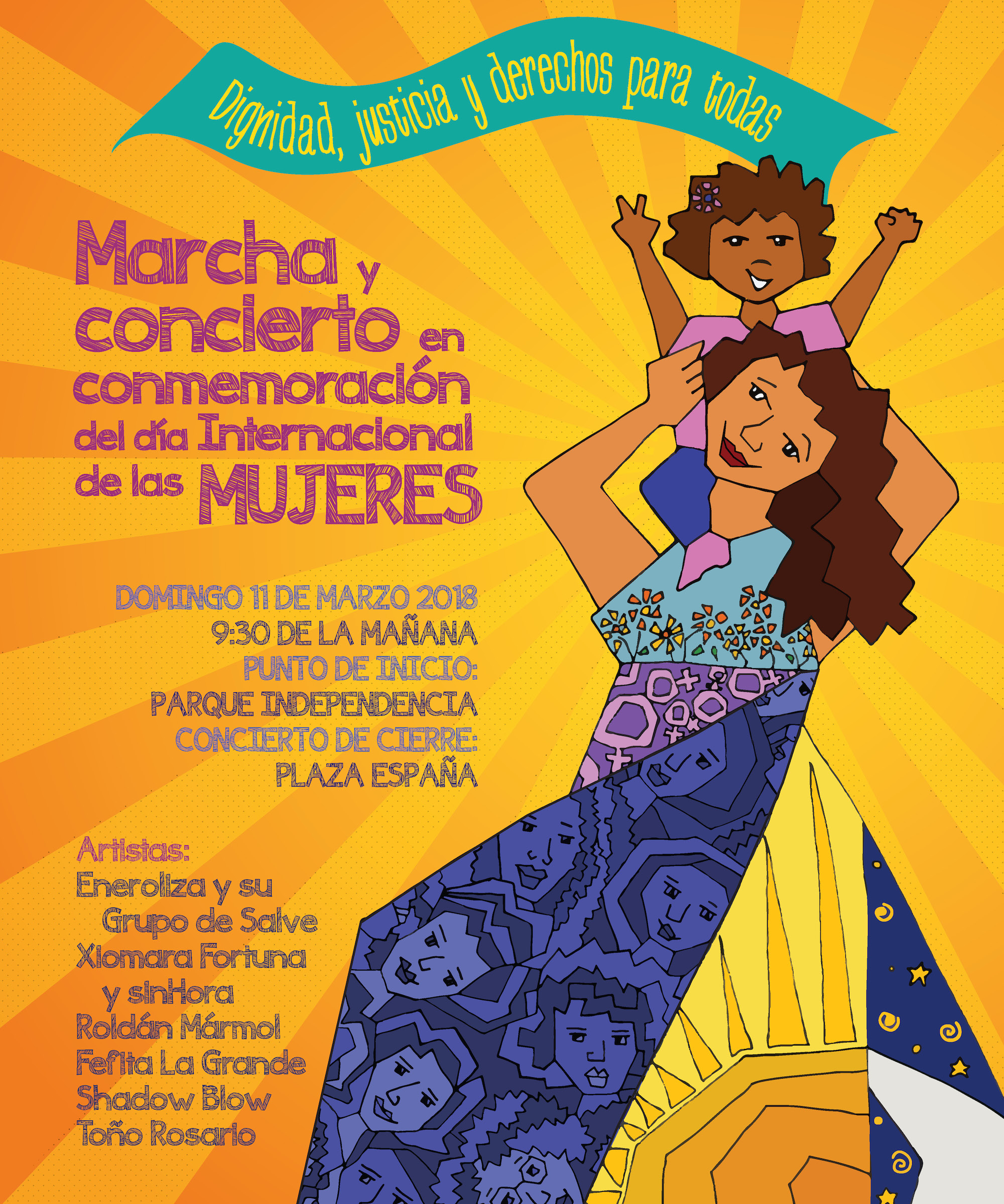 Afiche Marcha Mujeres