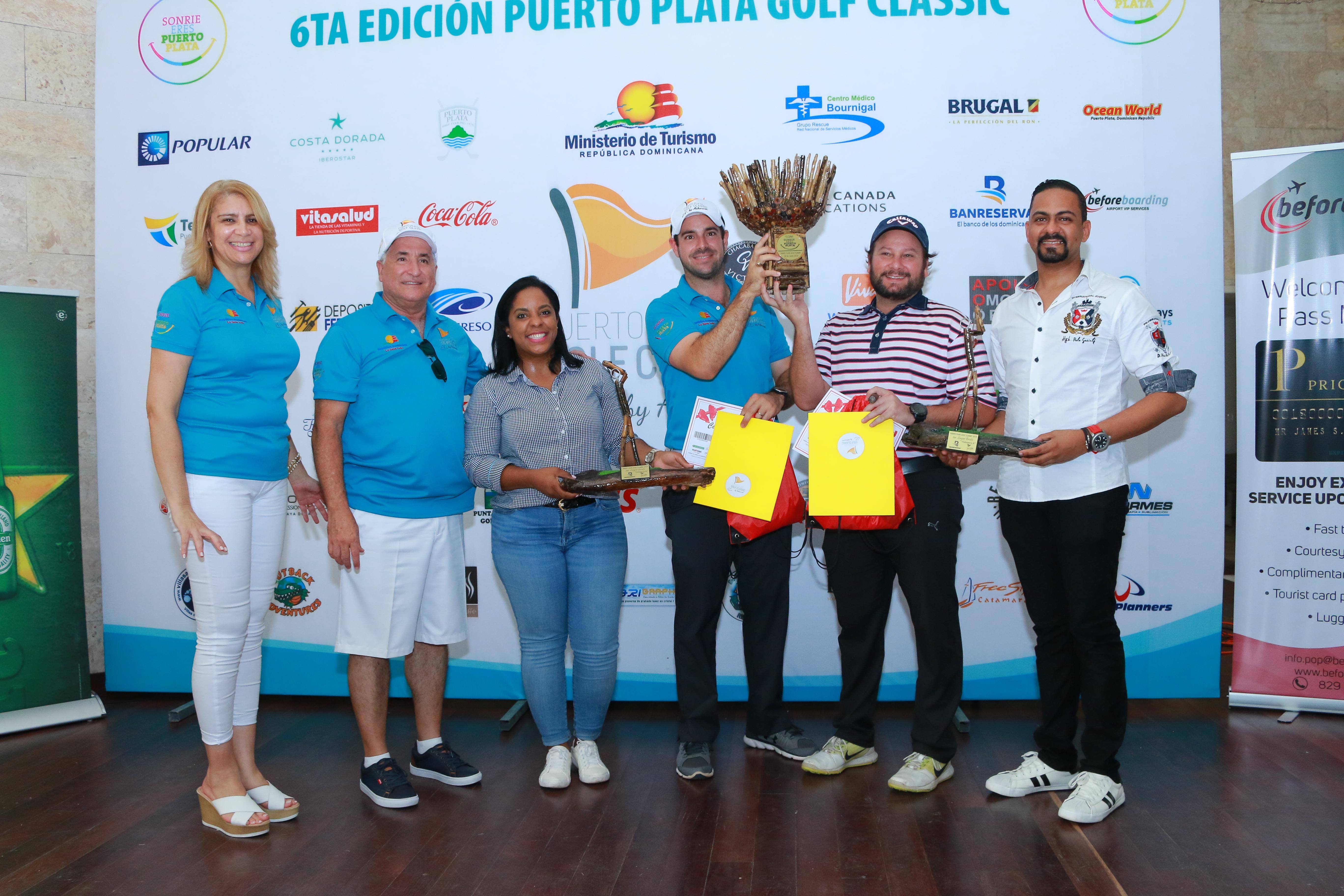 """Yamil Rodríguez y Mario Hurtado conquistan la """"Copa Sonríe""""  del Puerto Plata Golf Classic 2018"""