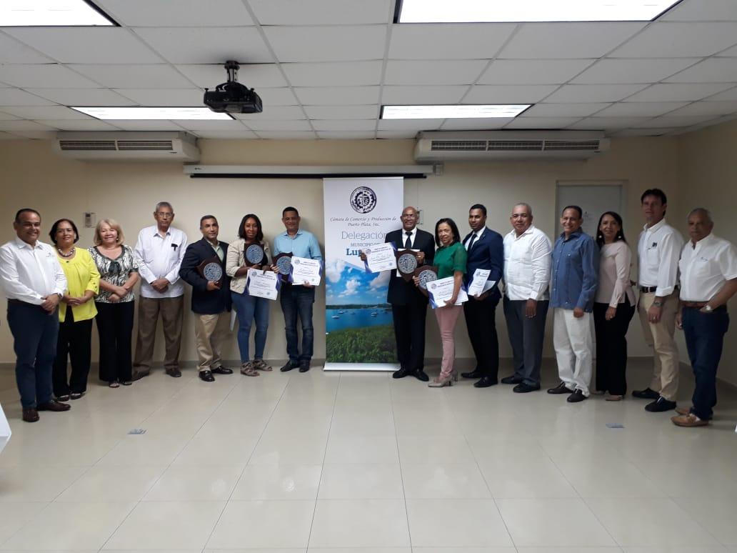 Cámara de Comercio de Puerto Plata juramenta su delegación del municipio Luperón