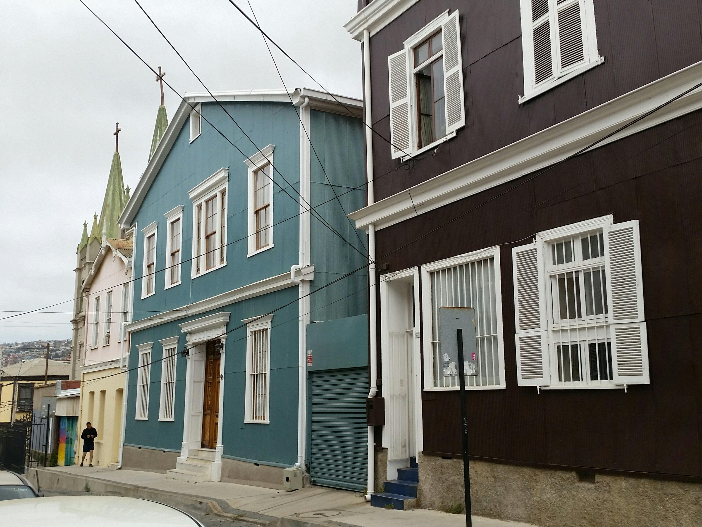 Valparaiso color, cultura e historia, chile.