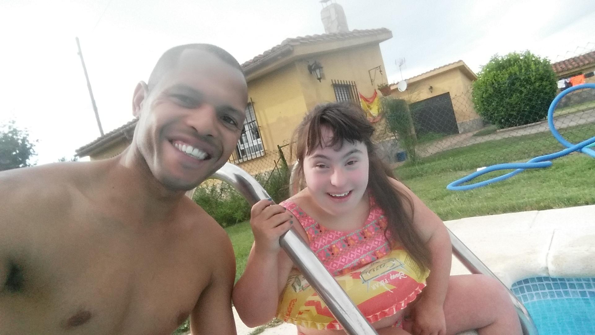 de piscina con maria