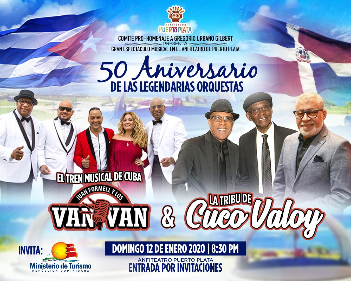 Cuco Valoy y Los Van Van celebran juntos sus 50