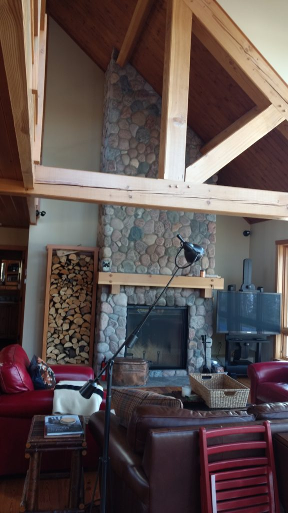 Great room timber truss