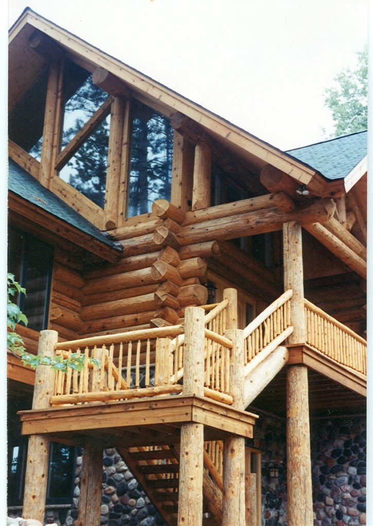 Log home approach