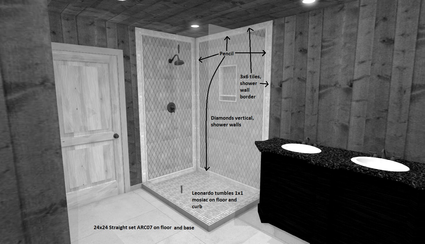 CAD drawing shower