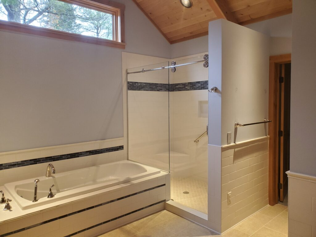 Master Bath tub and shower, Custom home by Huisman Concepts