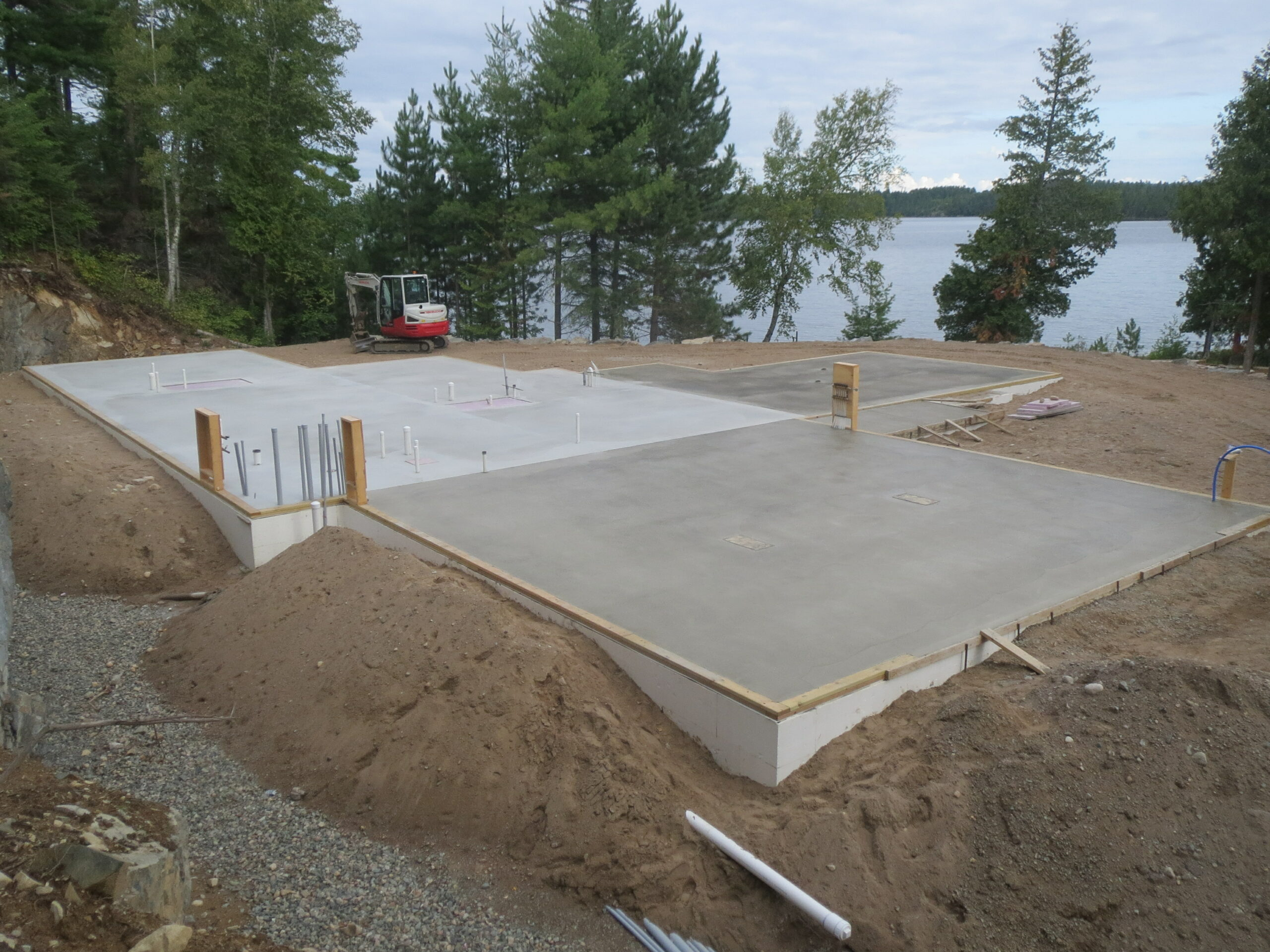 Slab done, custom home by Huisman Concepts,