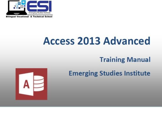 MS Access 2013 Advanced