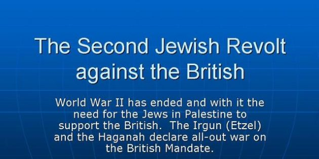 Revolts against the British Mandate