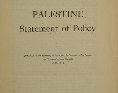Cover of White Paper of 1939