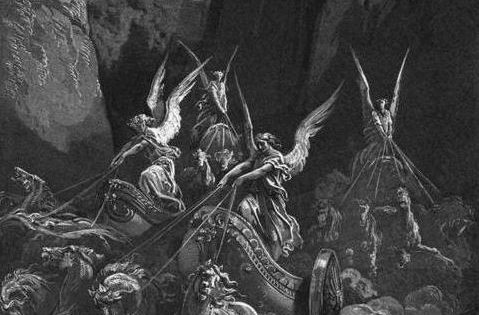 The Vision of the Four Chariots, Gustave Doré, 1865.
