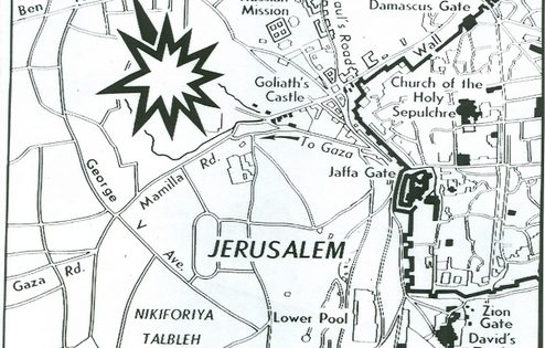 Where Explosion Ripped Jewish District, Associated Press, Feb. 24, 1948.