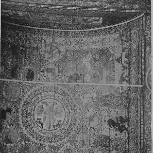 Ceiling of the synagogue of Chodorow, Ukraine.