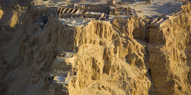 View from above of Herod the Great's Northern Palace on Masada