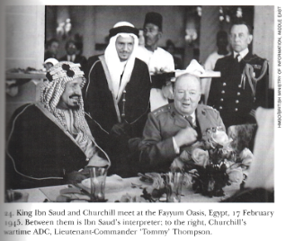 February 17, 1945 Churchill and Ibn Saud meet in Egypt