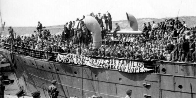 April 27, 1948 558 Immigrants Deported to Cyprus by British