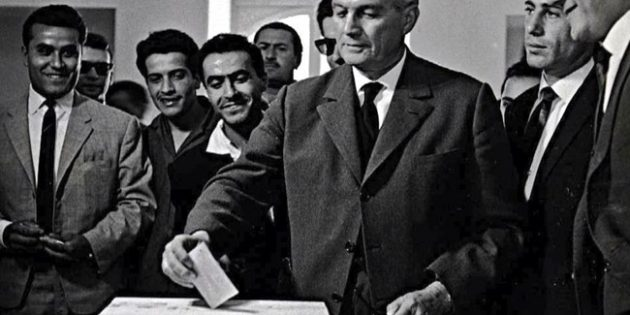 October 12, 1955 President Gamille Chamoun of Lebanon