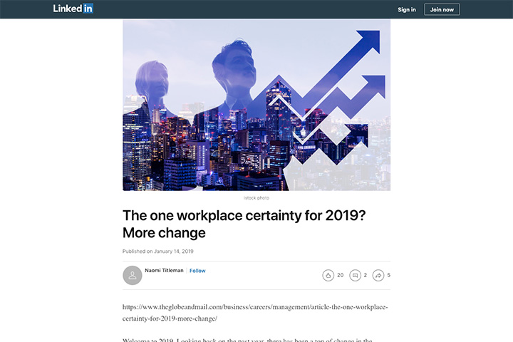 The one workplace certainty for 2019? More change
