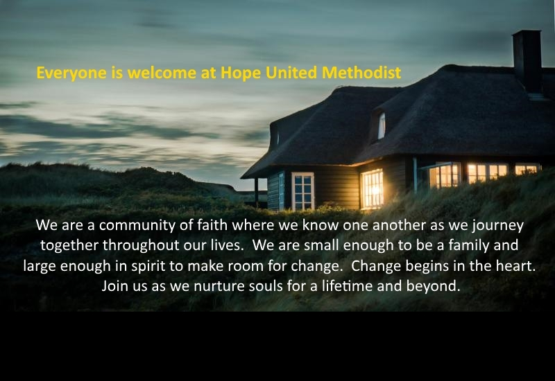 Everyone is welcome at Hope