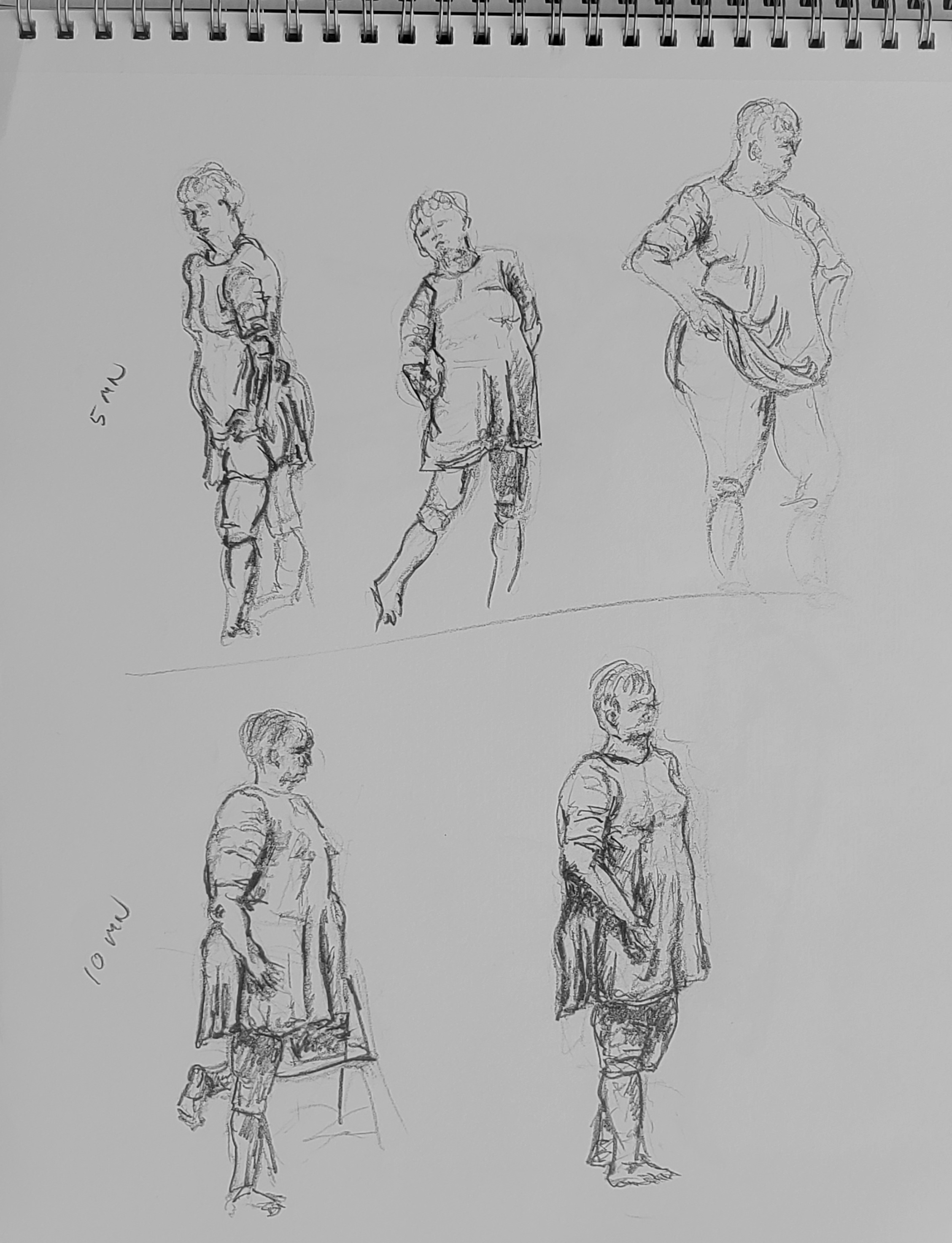 9/14/19 AWE figure drawing session, John Huisman