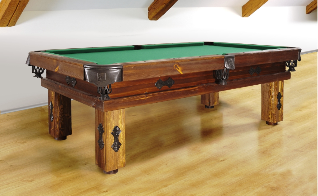 Artemis Rustic Log Hand made pool table by Vision Billiards decor B