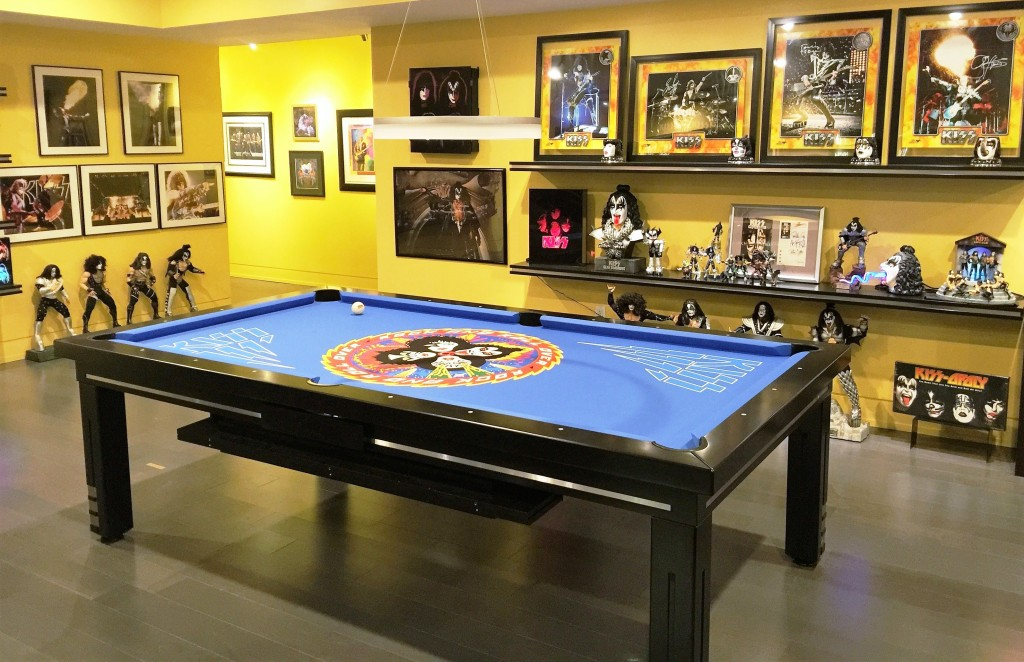 Convertible dining pool fusion table Milan by Vision Billiards custom Kiss