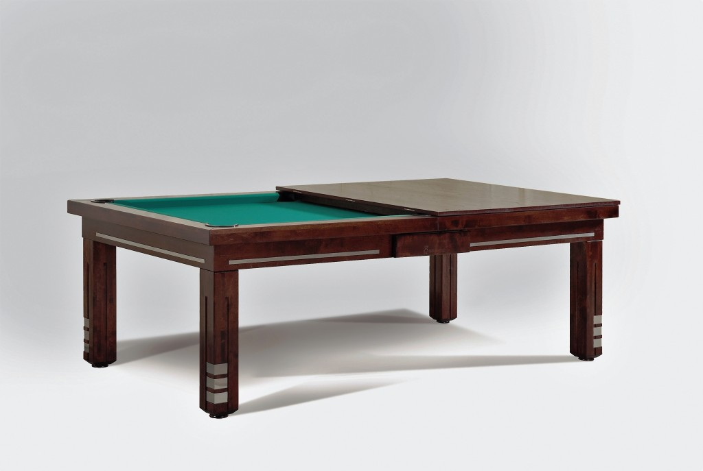 Convertible dining pool fusion table Milan by Vision Billiards green