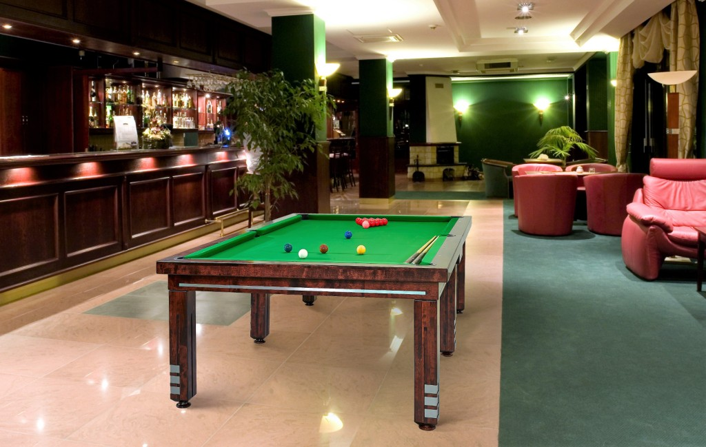 Convertible dining pool fusion table Milan by Vision Billiards snooker
