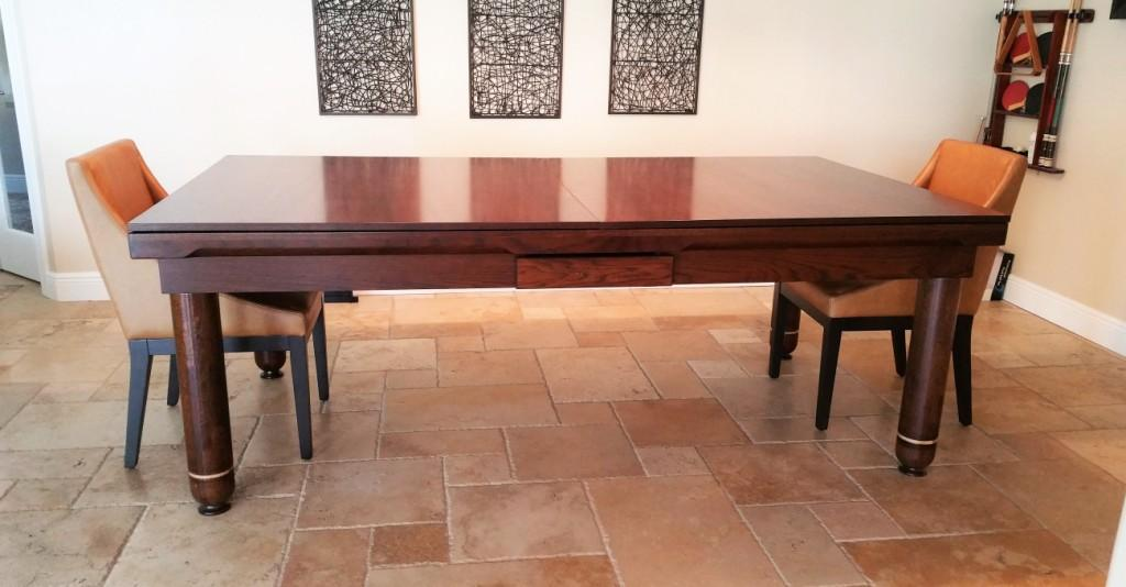 Convertible dining pool fusion table Nice by Vision Billiards