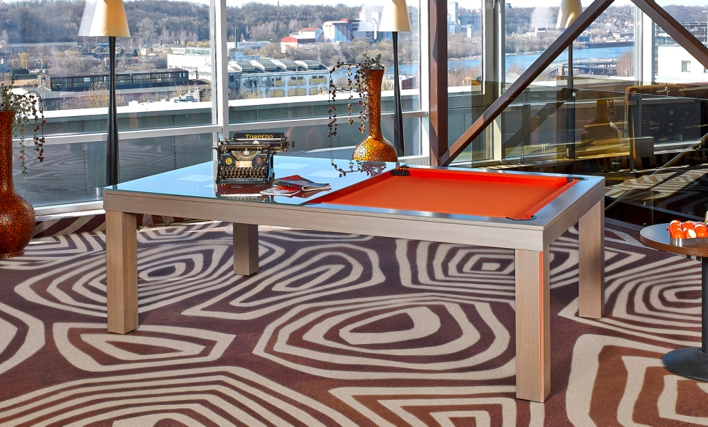 Convertible dining pool fusion table Vision Tokyo By Vision Billiards