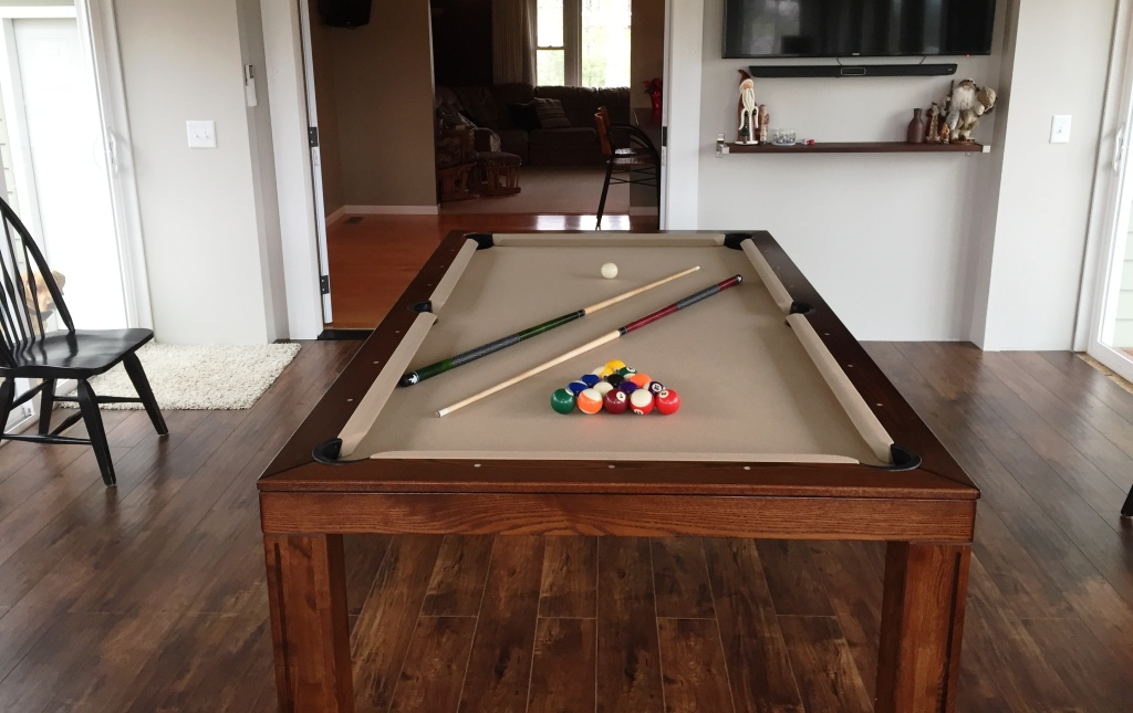 Convertible dining pool fusion table Vision brown By Vision Billiards