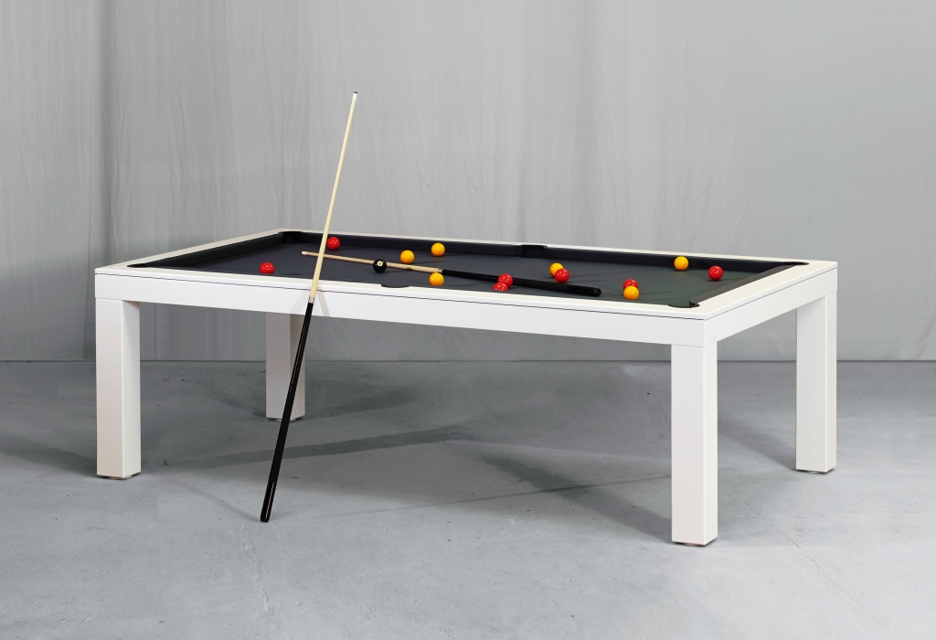 Convertible dining pool fusion table Vision white By Vision Billiards