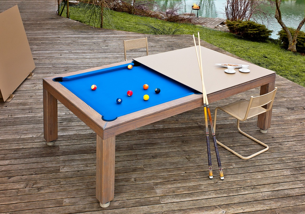 Vision Outdoor convertible dining pool fusion table by Vision Billiards
