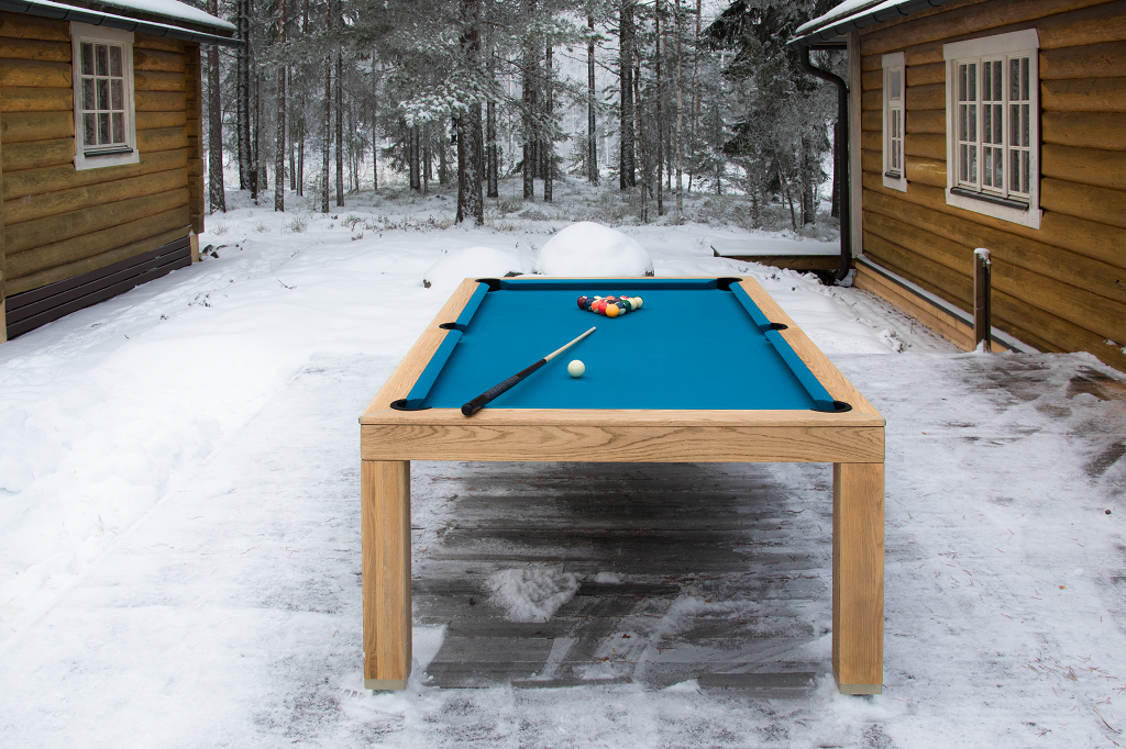 Outdoor Vision convertible dining pool fusion table