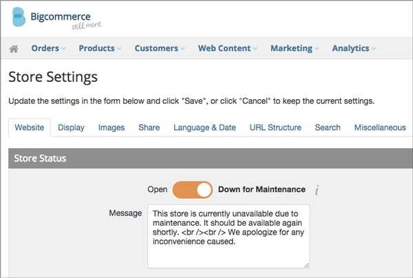 Bigcommerce Maintenance Mode image