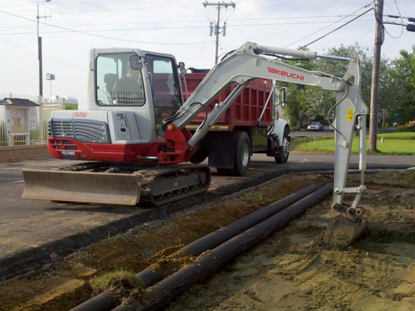 Carroll Bros. Contracting Drainage swale reconstruction in Annapolis, MD